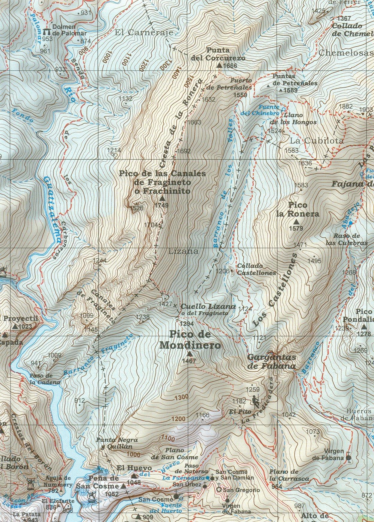 Sierra y Cañones de Guara Parque Nacional 1:40.000 senderismo y ...