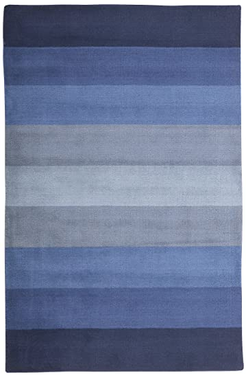 Aspect Blue Stripes Rug Rug Size: Runner 2u00276u0026quot; X 8u0027