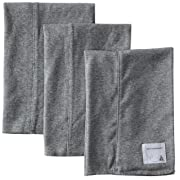 Burt's Bees Baby - Burp Cloths, 3-Pack Extra Absorbent 100% Organic Cotton Burp Cloths, Heather Grey