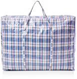 Strong and Durable Jumbo Laundry Bags (5Pack) - For Laundry/Shoppers - Zipped and Reusable