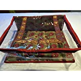 10 Pack/SARI-SAREE/LEHENGA COVER-BAGS-PACKAGING-STORAGE ONE SIDE CLOTH CLEAR