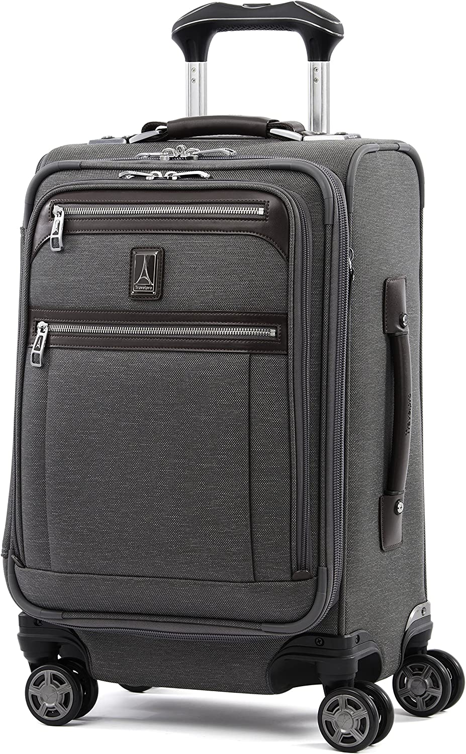 Travelpro Platinum Elite-Business Plus Softside Expandable Luggage, Vintage Grey, Carry-On 20-Inch