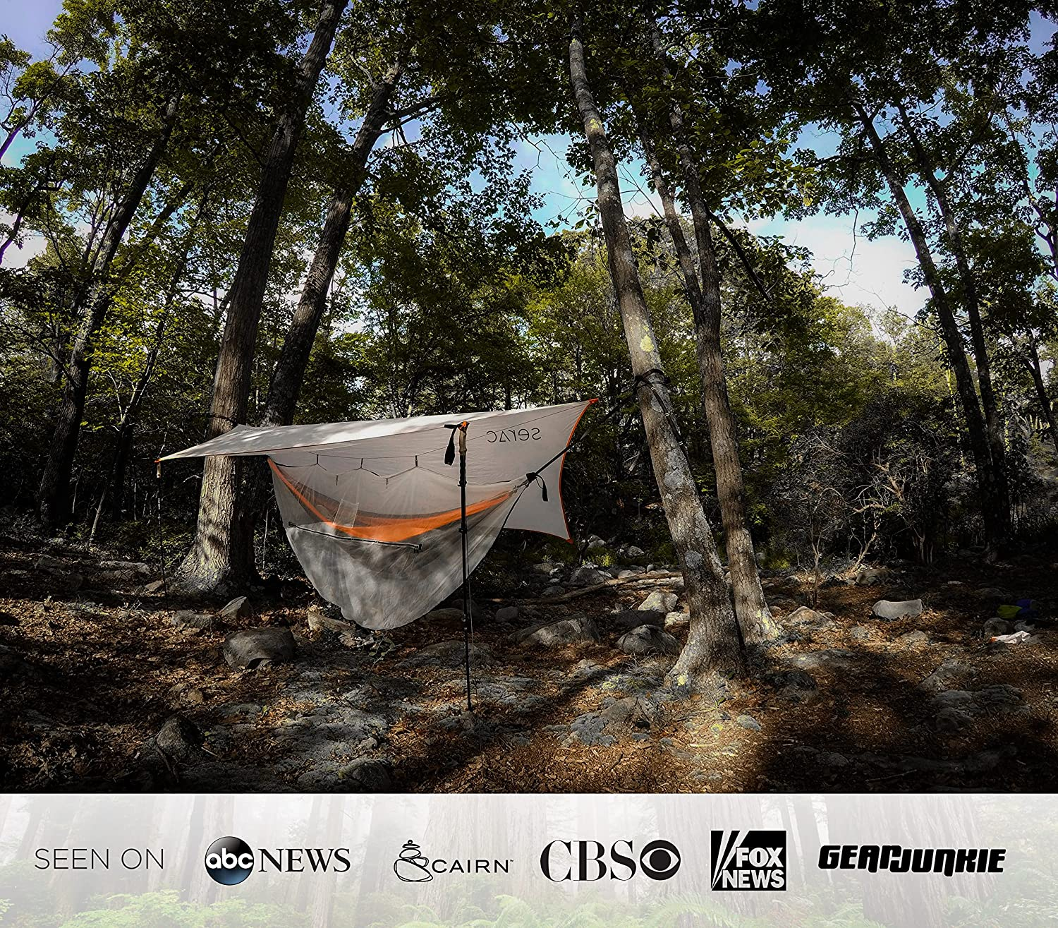 Premium Double Hammock /& Strap Bundle Sequoia XL Portable Double Camping Hammock with Ripstop Nylon and Quick-Hang Suspension System Serac