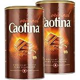 Caotina originale, Poudre de Cacao avec du Chocolat Suisse, Chocolat Chaud, Lot de 2, 2 x 500g