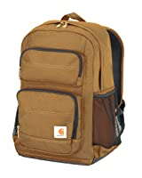 Carhartt Legacy Standard Work Backpack with Padded Laptop Sleeve and Tablet Storage, Carhartt Brown