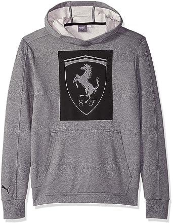 42aeaf514444 Amazon.com  PUMA Men s Ferrari Big Shield Hoodie  Clothing