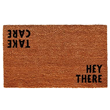 "Calloway Mills 100511729 Hey There Doormat, 17"" x 29"" x 0.60"", Natural/Black"