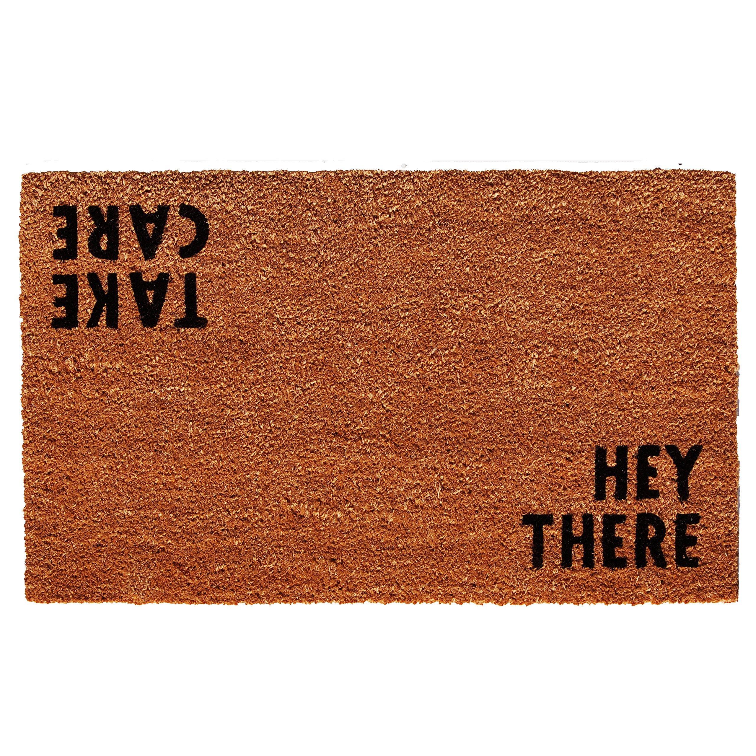 Calloway Mills Home & More 100511729 Hey There Doormat, 17'' x 29'' x 0.60'', Natural/Black