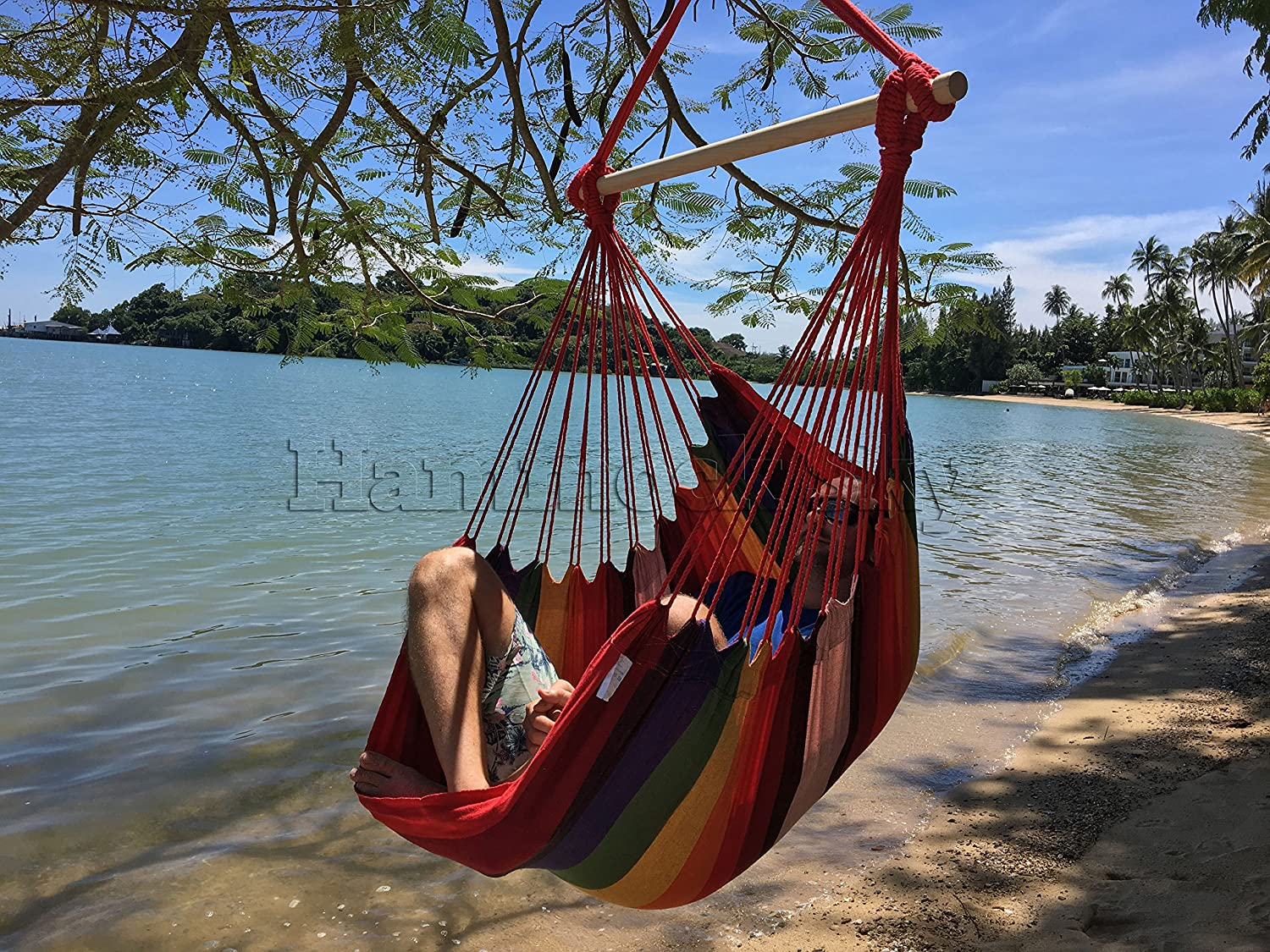 amazon    large brazilian hammock chair by hammock sky   quality cotton weave for superior  fort  u0026 durability   extra long bed   hanging chair for yard     amazon    large brazilian hammock chair by hammock sky   quality      rh   amazon