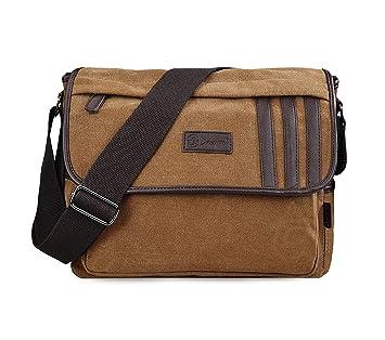 Amazon.com  Douguyan Canvas Briefcase Canvas Leather Vertical ... 629512168