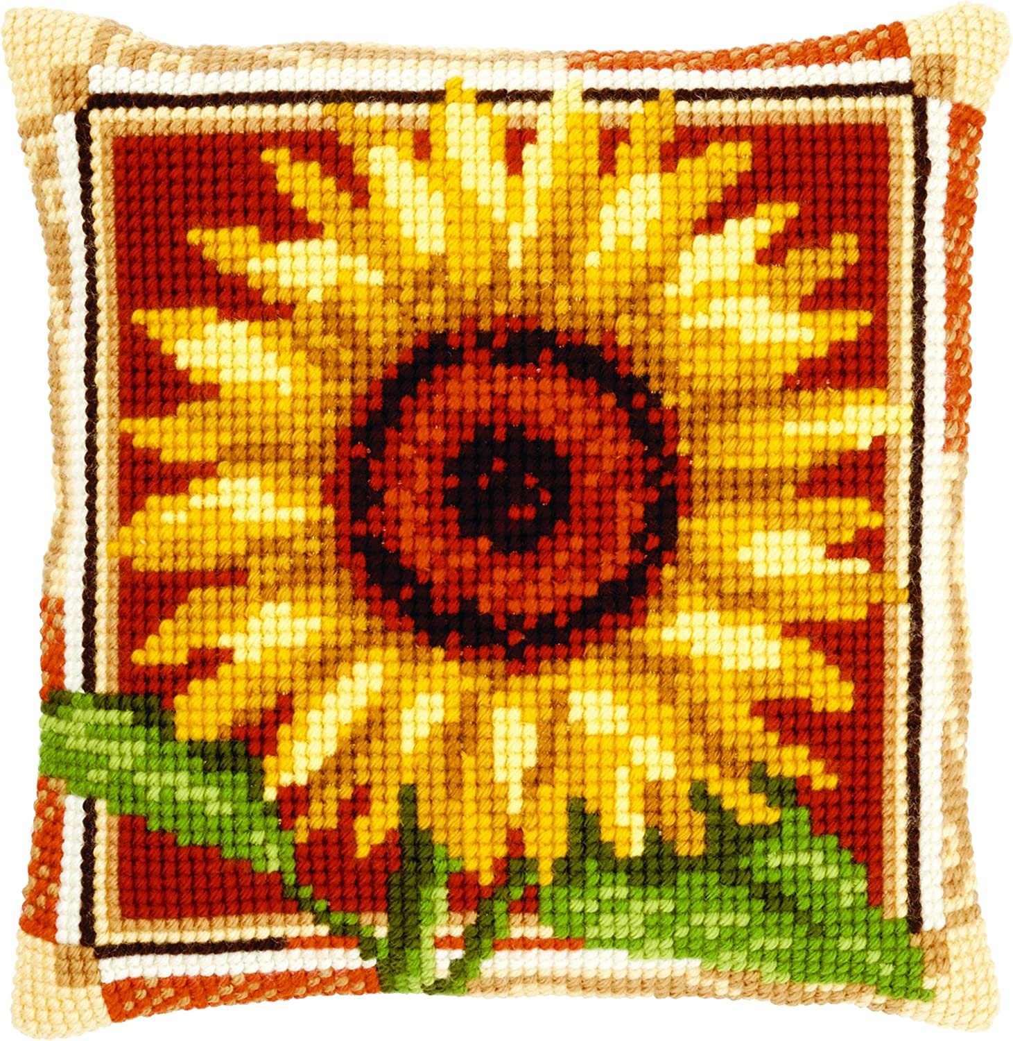 Vervaco stamped cross stitch kit cushion Sunflowers DIY