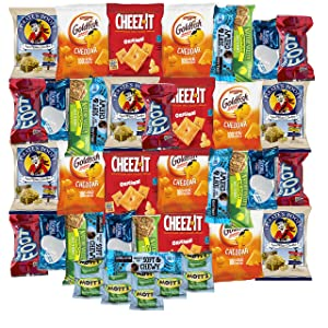 Snack Box Variety Care Pack - College Student Care Package, Chips, Candies and Cookies Gift Box (30 Count)