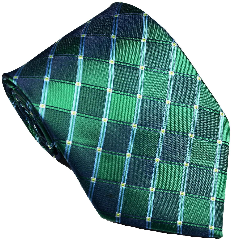 Geotae Zerun New Classic Mens Plaids Checks Silk Tie Necktie