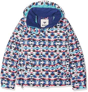 394179406 Roxy Girls' Roxy Jetty Girl Roxy Jetty Snow Jacket, Multicoloured (bsq9),