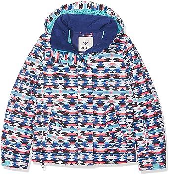 Amazon Roxy Girls Girls Jetty Waterproof Breathable Patterned Simple Patterned Ski Jackets
