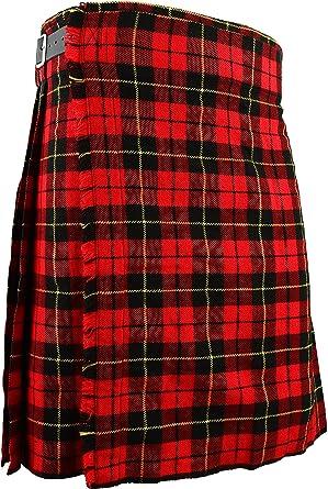 Para falda escocesa Wallace tradicional escocés de cuadros ...