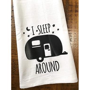 Funny Camper RV Towel I Sleep Around
