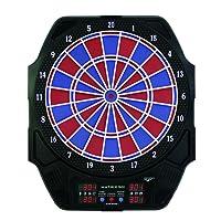 Carromco Erwachsene Electronisches Dart Matrix 501, Schwarz mit Blau-Roten Segmenten, 92415