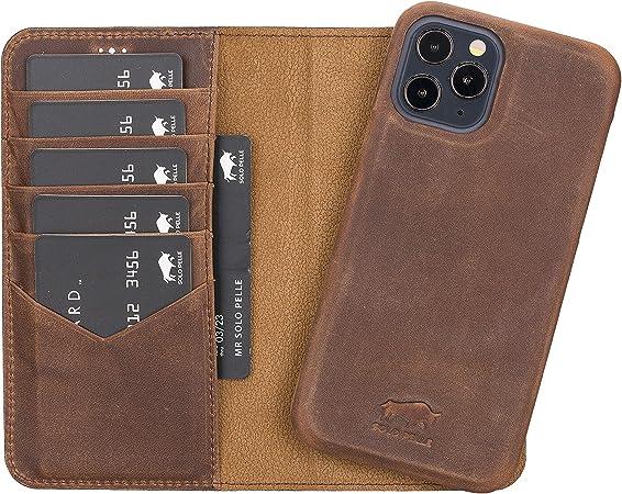 Solo Pelle Lederhülle Kompatibel Für Iphone 12 I 12 Pro Elektronik