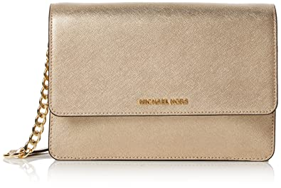 3923f5f8b92d Michael Kors Womens Gusset Lg Gusset Crossbody Cross-Body Bag Gold (Pale  Gold)