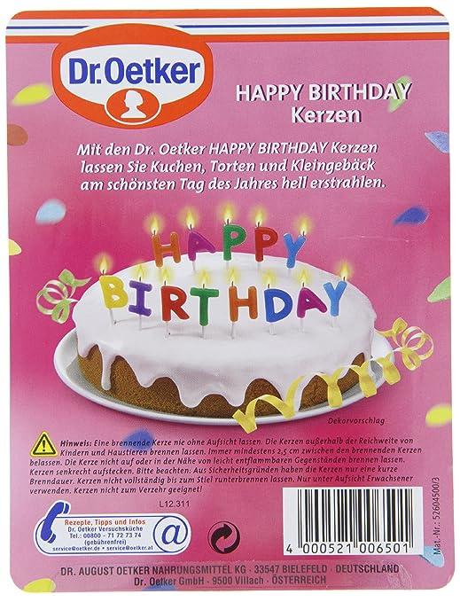 Dr Oetker Happy Birthday Kerzen Amazon De Lebensmittel Getranke