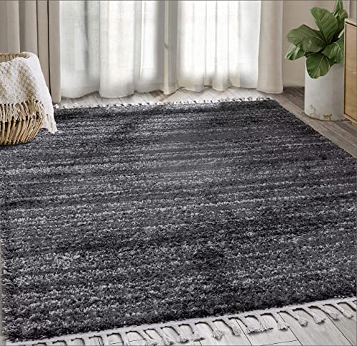 Contemporary 7'9″ x 10'2″ Plush Shag Area Rug