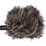 "Movo WS-G1 Furry Outdoor Microphone Windscreen Muff for Small Compact Microphones up to 2.5"" X 40mm (L x D) for the Zoom H1, Apogee MiC and More (Dark Gray)"