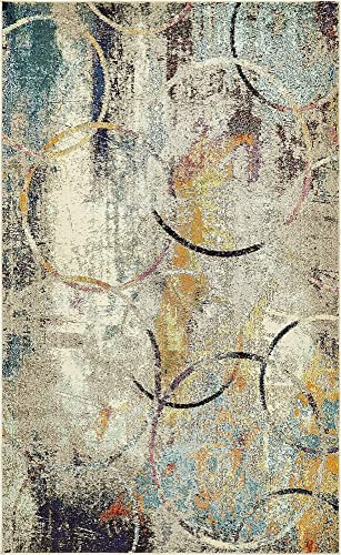 Unique Loom Chromatic Collection Rustic Modern Abstract Colorful Multi Area Rug 5 0 x 8 0