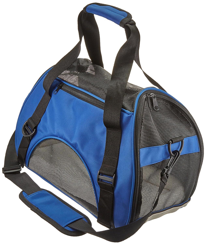 Dark bluee Pet Cuisine Breathable Soft-sided Pet Carrier, Cats Dogs Travel Crate Tote Portable Handbag Shoulder Bag Outdoor Dark bluee