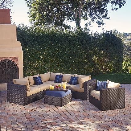 Mission Hills Sumner 7-Piece Seating Set - Amazon.com : Mission Hills Sumner 7-Piece Seating Set : Garden & Outdoor