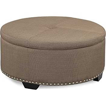 Amazon Com Inspired By Bassett Augusta Eco Leather Round