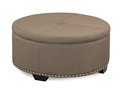 Round Coffee Table With Ottomans.Urban Home Furniture 35 Round Rolling Flip Top Ottoman Pebble Stone