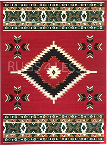Rugs 4 Less Collection Southwest Native American Indian Area Rug Design R4L SW2 Red