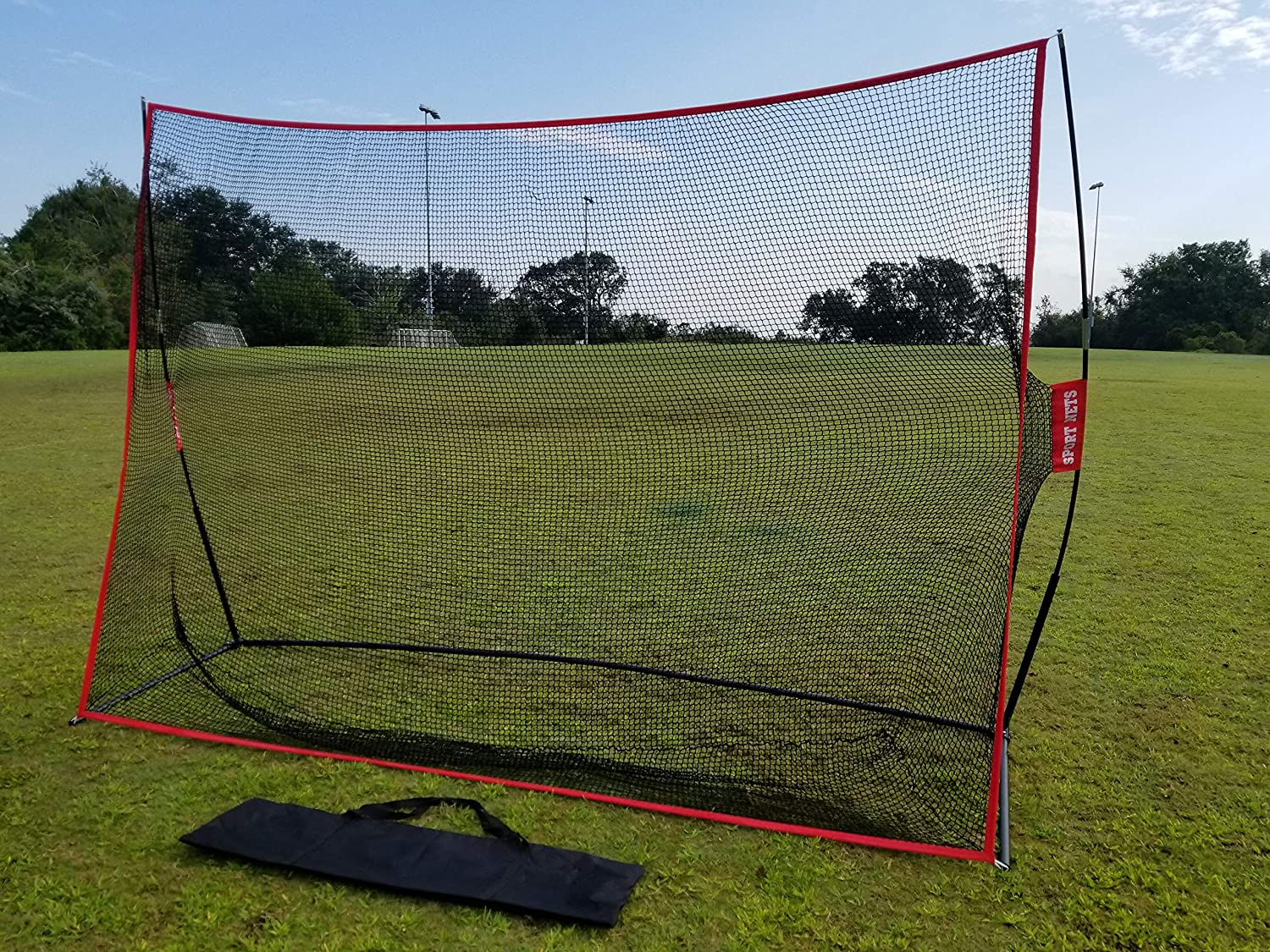Hit Run Steal Sport Nets Heavy Duty Golf Net and Mat (Heavy Duty Golf Net 10 X 7)