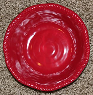 Tommy Bahama Red Rope Edge Melamine Soup/cereal Bowls - Set of 4 - Approx : extra large white dinner plates - pezcame.com