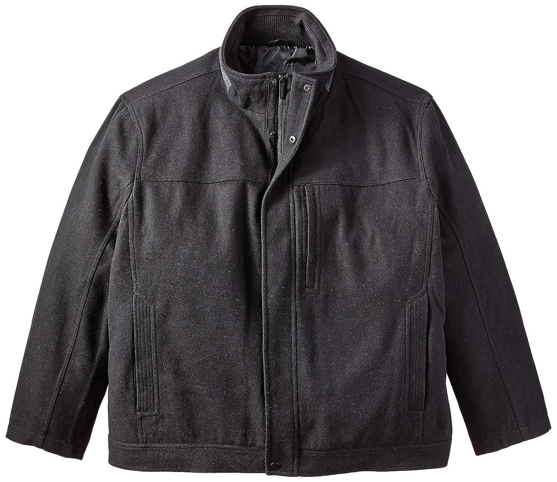London Fog Men's Big Herald Fly Front Hipster Jacket Black 2X L1134X