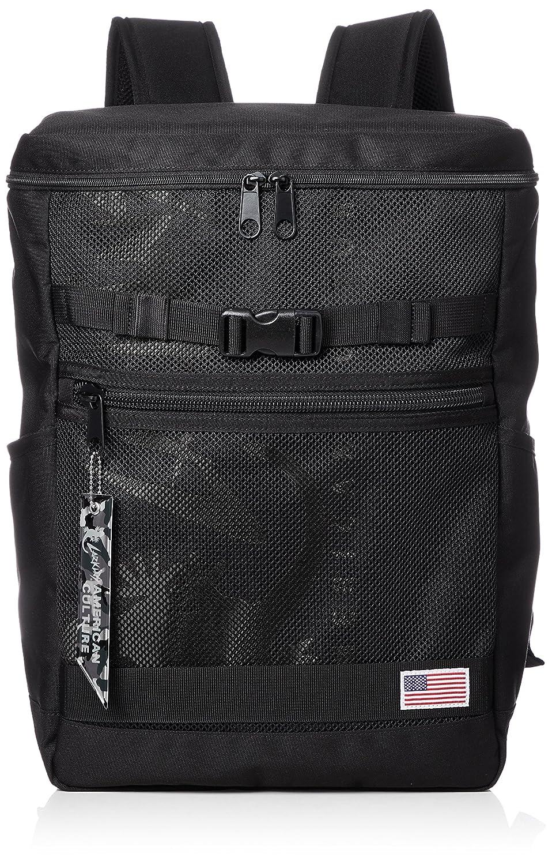 [ラーキンス]キューブバックパック LKLA-02 メッシュポケット B07B4R6THF ブラック/ブラック ブラック/ブラック