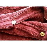JOWOLLINA Leinen Bettwäsche-Set 100% natur Leinen Stonewashed - Bettbezug 135x200 cm + Kissenbezug 80x80 cm, Cherry