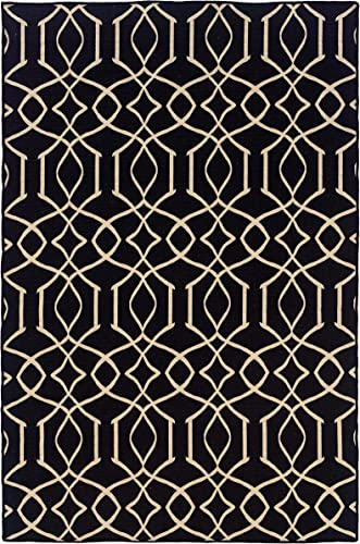 Salonika Irongate Rug Black Natural
