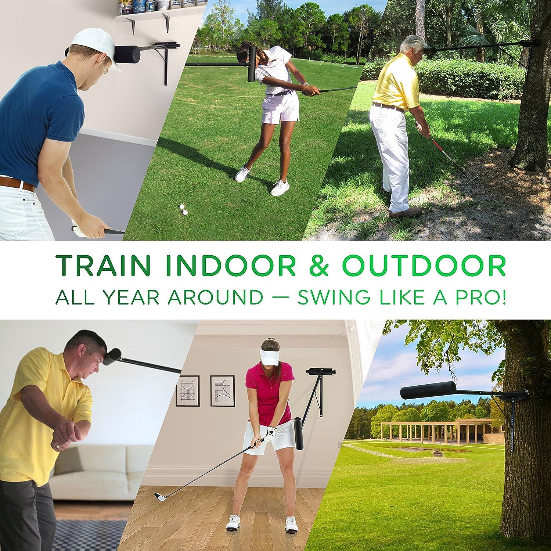 Amazon.com: pro-head Golf Swing Trainer pared/árbol modelo ...
