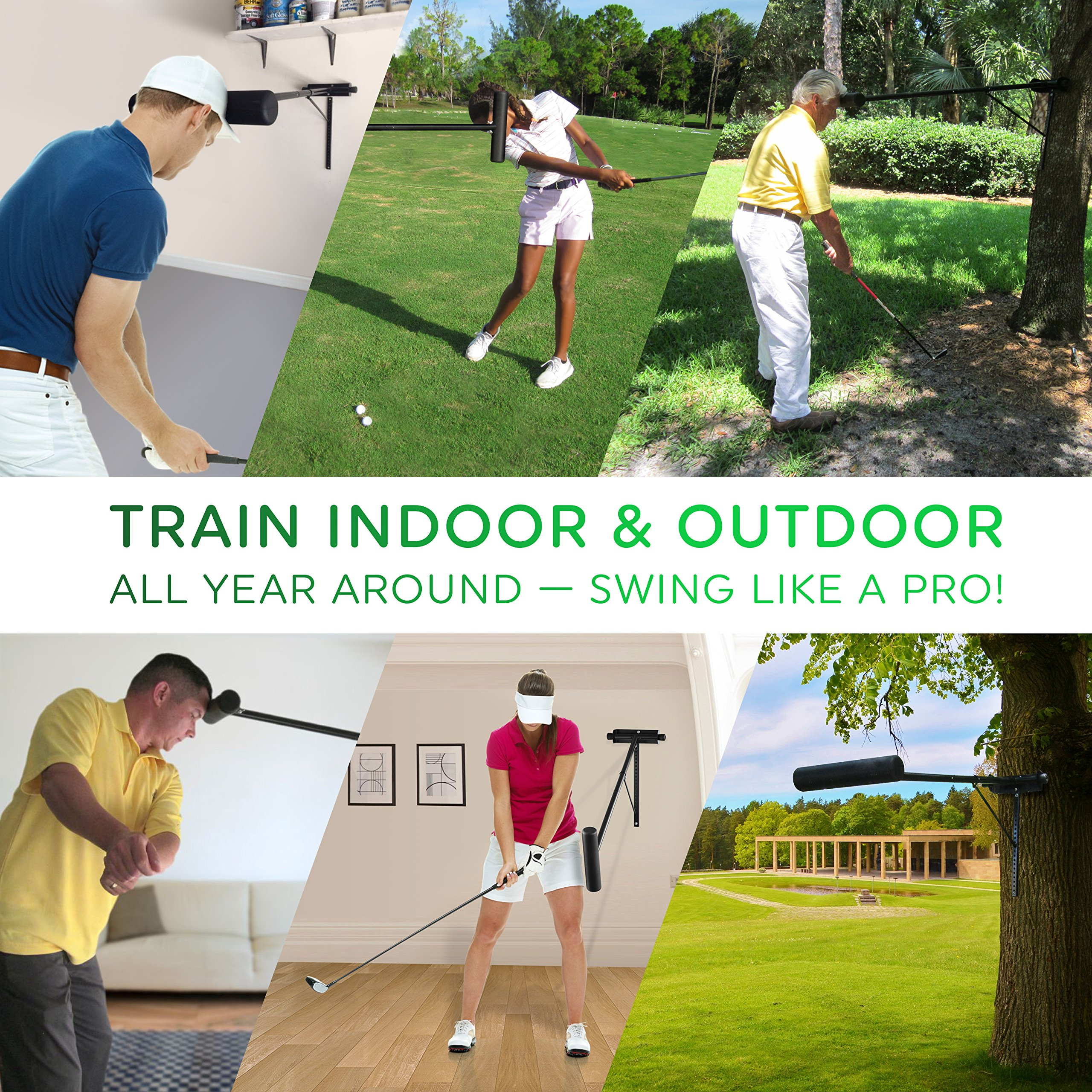 Golf Swing Trainer PRO-HEAD - Wall or Tree Golf Training Aid Equipment for All Golfers - Posture Correcting Tool - Fix and Keep a Steady Head, Maintain Spine Angle - Practice Indoor & Outdoor by PRO-HEAD (Image #6)