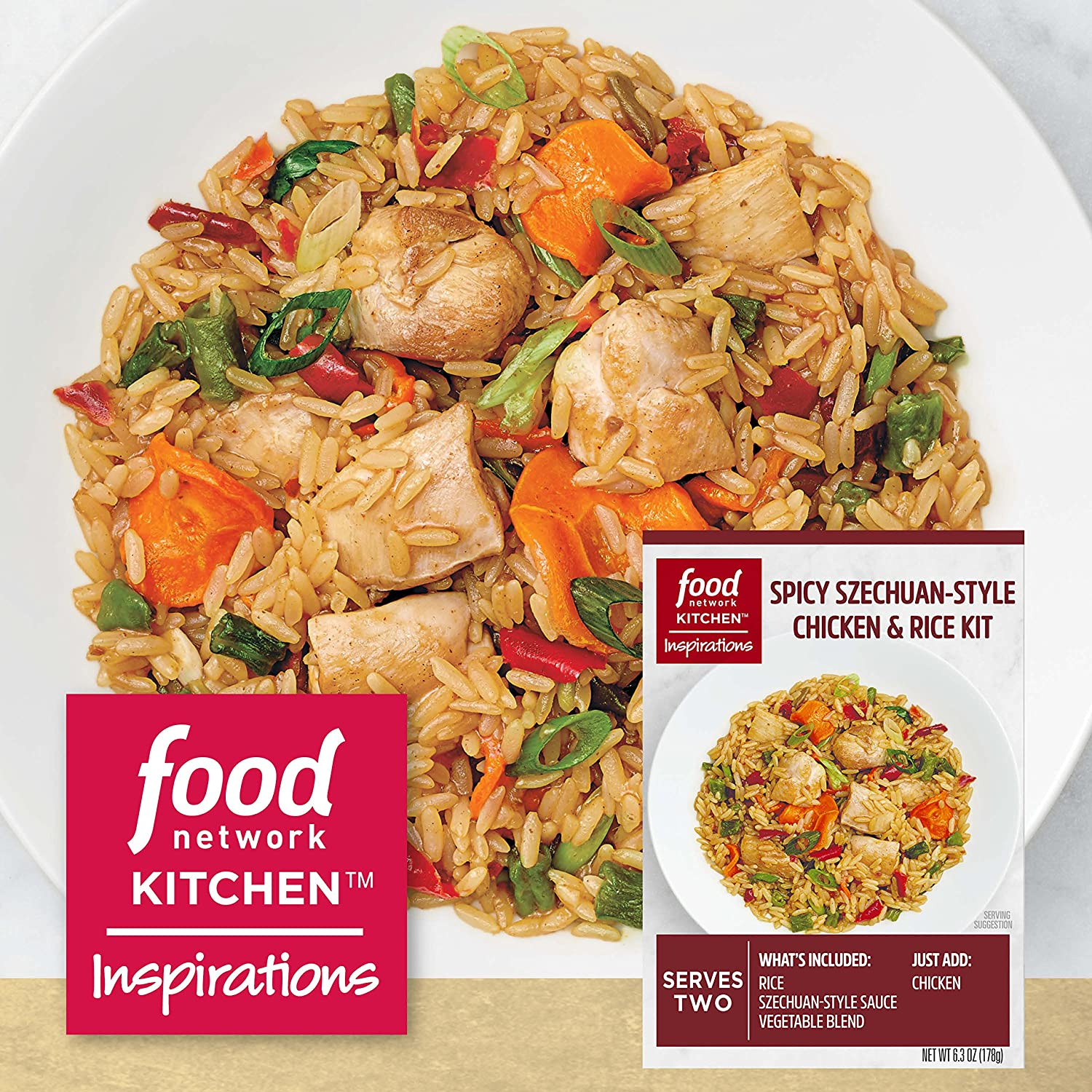 Amazon food network kitchen inspirations spicy szechuan style amazon food network kitchen inspirations spicy szechuan style chicken rice meal kit 63 oz grocery gourmet food forumfinder Images