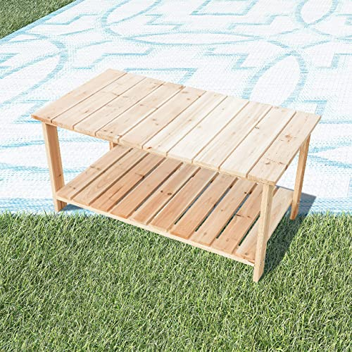 LOKATSE HOME Adirondack Wooden Tea Table