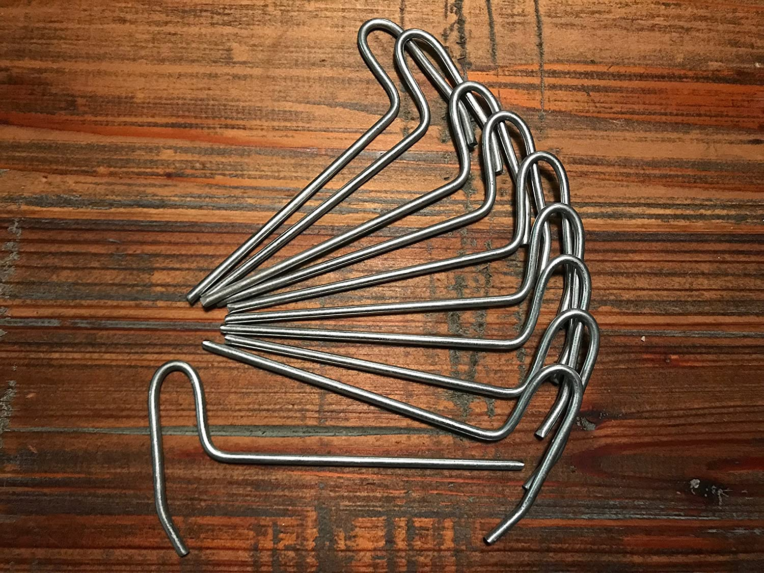Tezula Plants Rhizome Clips for Orchids in Clay Pots – 6 Galvanized Steel 10
