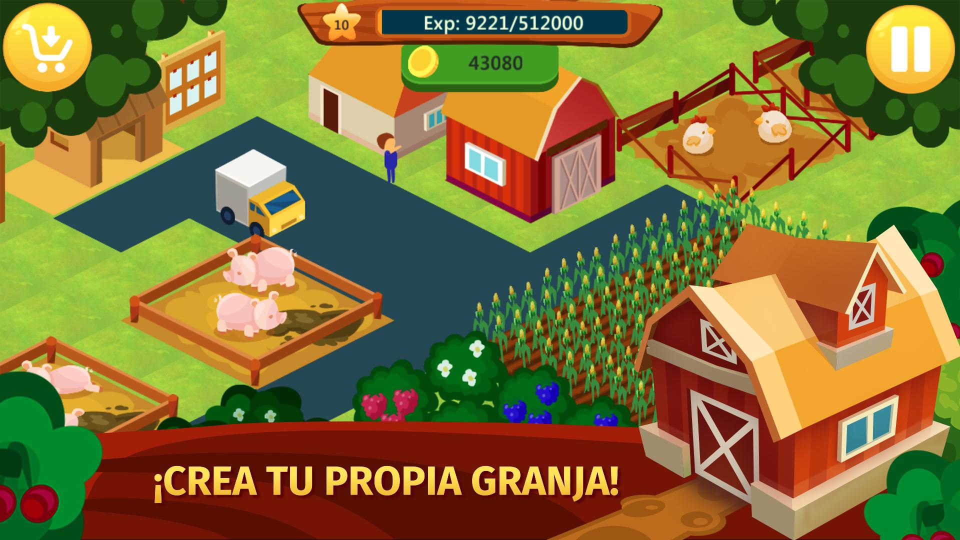 Farm Fence: Country City 2 - Virtual Farming Simulator: simulator de granja con vacas y caballos, cuidar animales y mascotas, construir ciudad y casas en farm ville, juego de aventura: Amazon.es: Appstore