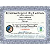 Image of: Therapy Official Emotional Support Dog Certificate Leather Padded Folder Fully Customized With Registration To Esa Doctors Amazoncom Emotional Support Animal Certificate Customizable
