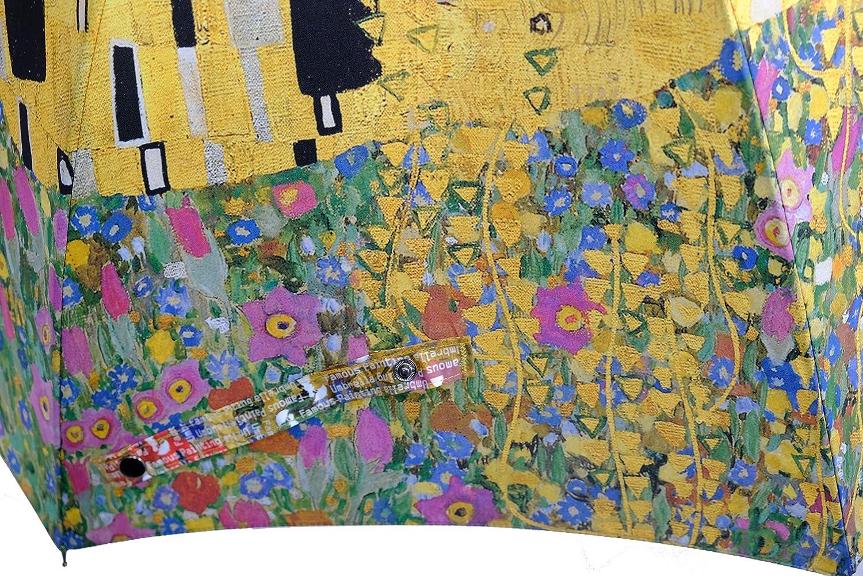 Saint Clair Famous painting 60FL-04 Kiss By Klimt Auto Open Carbon Ribs Umbrella