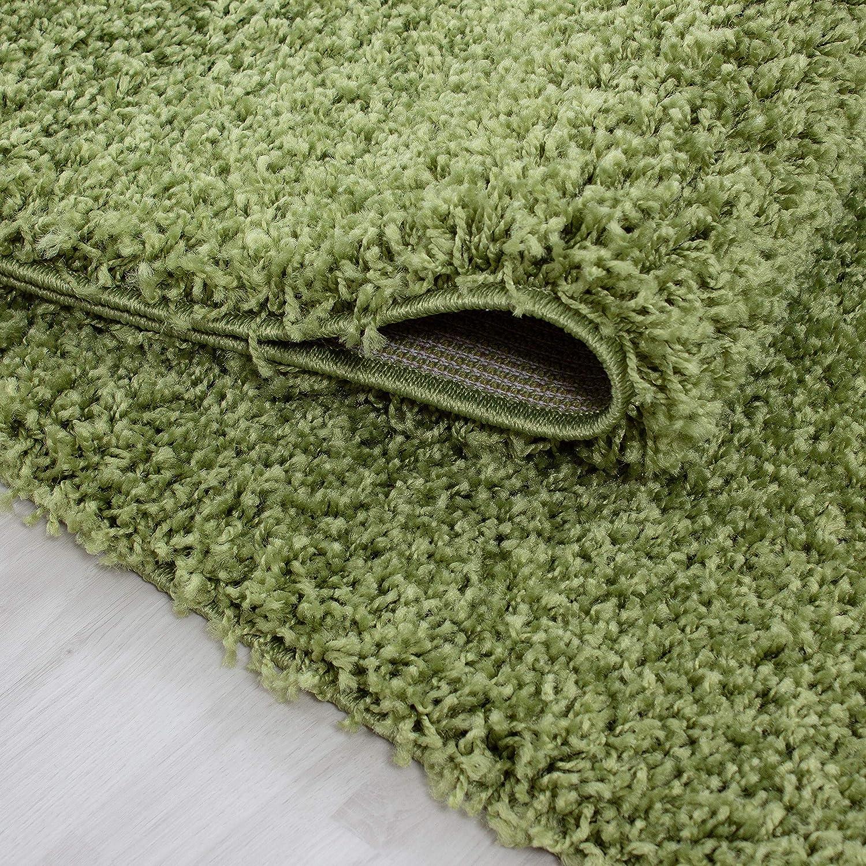 Hochflor Shaggy Teppich Wohnzimmer 3 3 3 cm Florhöhe einfarbig Teppiche mit OKOTEX, Maße 160x230 cm, Farbe Grau B01M3MTH6P Teppiche d4ffa9