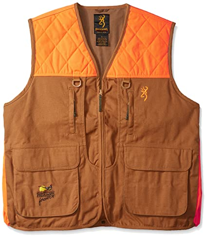 0bbd8710ef4c7 Amazon.com: Browning Pheasants Forever Vest: Sports & Outdoors