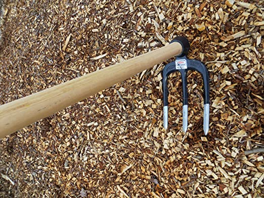Chillington Crocodile Cast Steel Heavy Duty 3 Prong Canterbury Hoe Fork Head.
